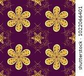 eastern style element. golden... | Shutterstock .eps vector #1022066401