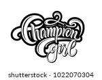 "black hand drawn ""champion girl""...   Shutterstock .eps vector #1022070304"