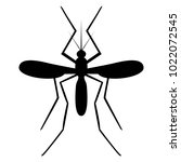 vector image of a mosquito...   Shutterstock .eps vector #1022072545