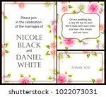 vintage delicate invitation... | Shutterstock .eps vector #1022073031