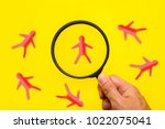 human resources and recruitment ...   Shutterstock . vector #1022075041