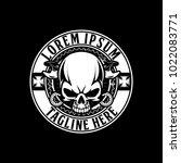 skull biker motorcycle black... | Shutterstock .eps vector #1022083771