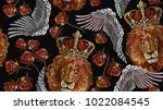 Embroidery Lion In Crown  Ange...