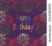 abstract zentangle inspired art ... | Shutterstock . vector #1022085505