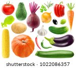 isolated collection of 20... | Shutterstock . vector #1022086357