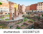 largo di torre argentina square ...   Shutterstock . vector #1022087125