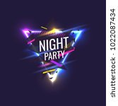 original poster for night paty. ... | Shutterstock .eps vector #1022087434