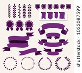 vector collection of decorative ... | Shutterstock .eps vector #1022087599