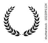 laurel wreath vector isolated | Shutterstock .eps vector #1022091124