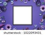 Picture Frame On Purple Desk...