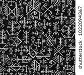 futhark norse islandic and... | Shutterstock .eps vector #1022094367