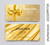 gift voucher design template.... | Shutterstock .eps vector #1022099734