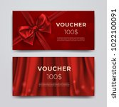 gift voucher design template.... | Shutterstock .eps vector #1022100091