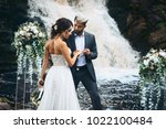 wedding beautiful couple sexy... | Shutterstock . vector #1022100484