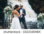 wedding beautiful couple sexy...   Shutterstock . vector #1022100484
