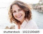 portrait of happy young... | Shutterstock . vector #1022100685