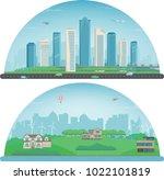city landscape and suburban