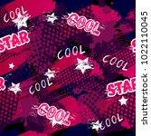 abstract seamless sport pattern ... | Shutterstock .eps vector #1022110045
