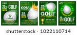 set of golf posters with golf... | Shutterstock .eps vector #1022110714