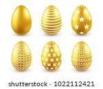 easter golden egg. traditional... | Shutterstock .eps vector #1022112421