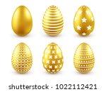 easter golden egg. traditional... | Shutterstock .eps vector #1022112421