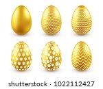 easter golden egg. traditional... | Shutterstock .eps vector #1022112427