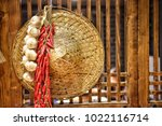 garlic and chilli  spices ...   Shutterstock . vector #1022116714