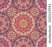 seamless pattern mandala... | Shutterstock .eps vector #1022119591