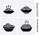 italian pasta and spaghetti... | Shutterstock .eps vector #1022119945