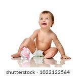 beautiful infant baby girl... | Shutterstock . vector #1022122564