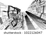 architectural background 3d... | Shutterstock . vector #1022126047