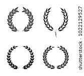 laurel wreath foliate symbols... | Shutterstock .eps vector #1022129527