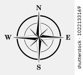 compass icon. vector... | Shutterstock .eps vector #1022133169
