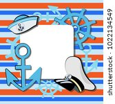 sea poster with and sailor's... | Shutterstock .eps vector #1022134549