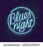 Neon Blues Night Round...