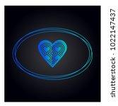 simple vector hearts icon   Shutterstock .eps vector #1022147437