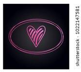 simple vector hearts icon | Shutterstock .eps vector #1022147581