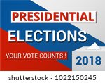 presidential elections in... | Shutterstock .eps vector #1022150245
