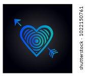 simple vector heart icon | Shutterstock .eps vector #1022150761