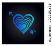 simple vector heart icon | Shutterstock .eps vector #1022151631