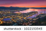 a wonderful panoramic view of... | Shutterstock . vector #1022153545