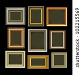 photo picture frames vintage | Shutterstock . vector #102215569