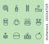 Gardening Icons Set With Gnome...