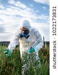 weed control. industrial...   Shutterstock . vector #1022173831