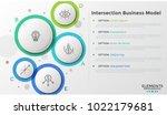 five translucent circular... | Shutterstock .eps vector #1022179681