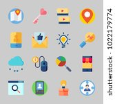 icons about seo with location ... | Shutterstock .eps vector #1022179774