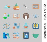 icons about science with planet ... | Shutterstock .eps vector #1022179855