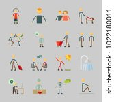 icons about human with dialogue ... | Shutterstock .eps vector #1022180011