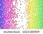 vector spectrum colorful pixels ... | Shutterstock .eps vector #1022180509