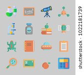 icons about science with... | Shutterstock .eps vector #1022181739